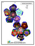 3D Dodecahedron with Fractal Flowers