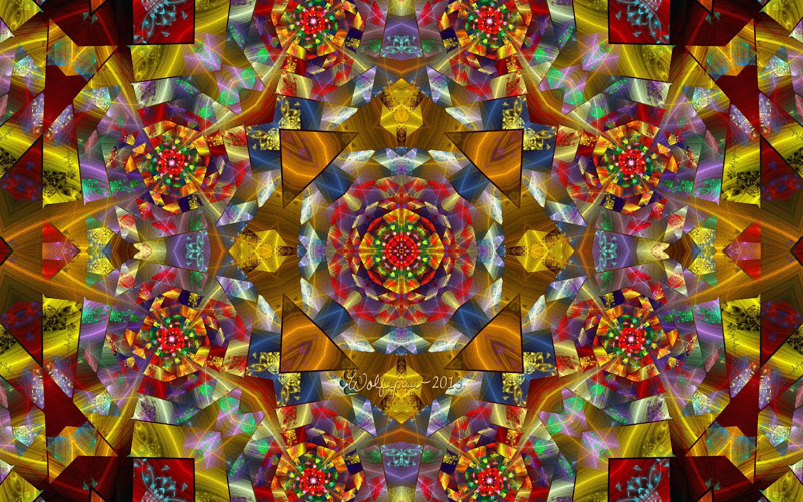 Stained Glass Kaleidoscope by wolfepaw