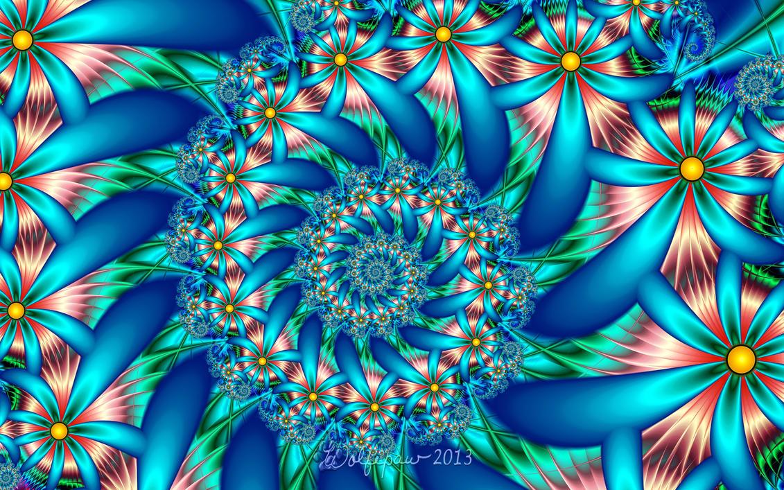 Flower Spiral by wolfepaw
