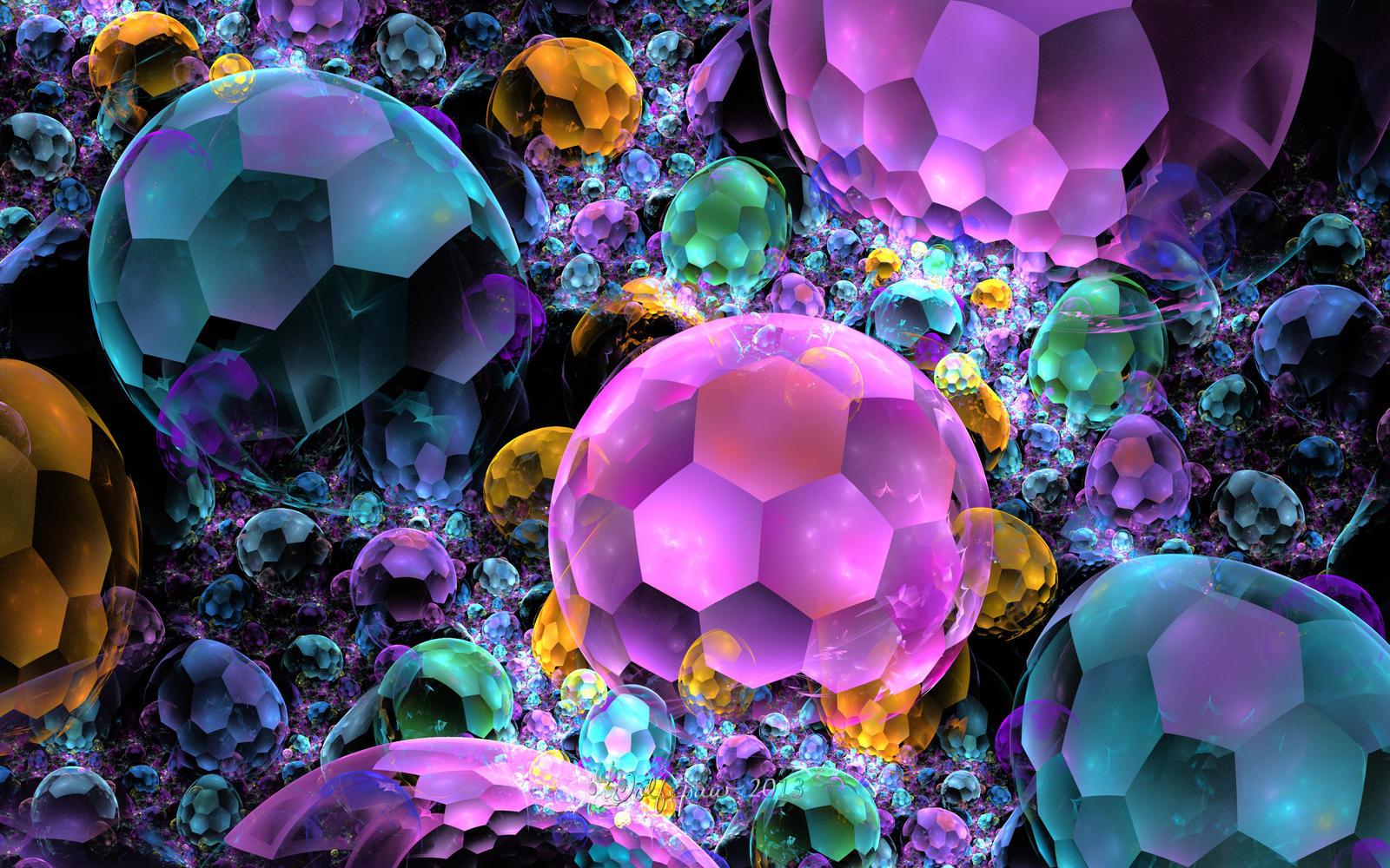 Bubble Gems by wolfepaw