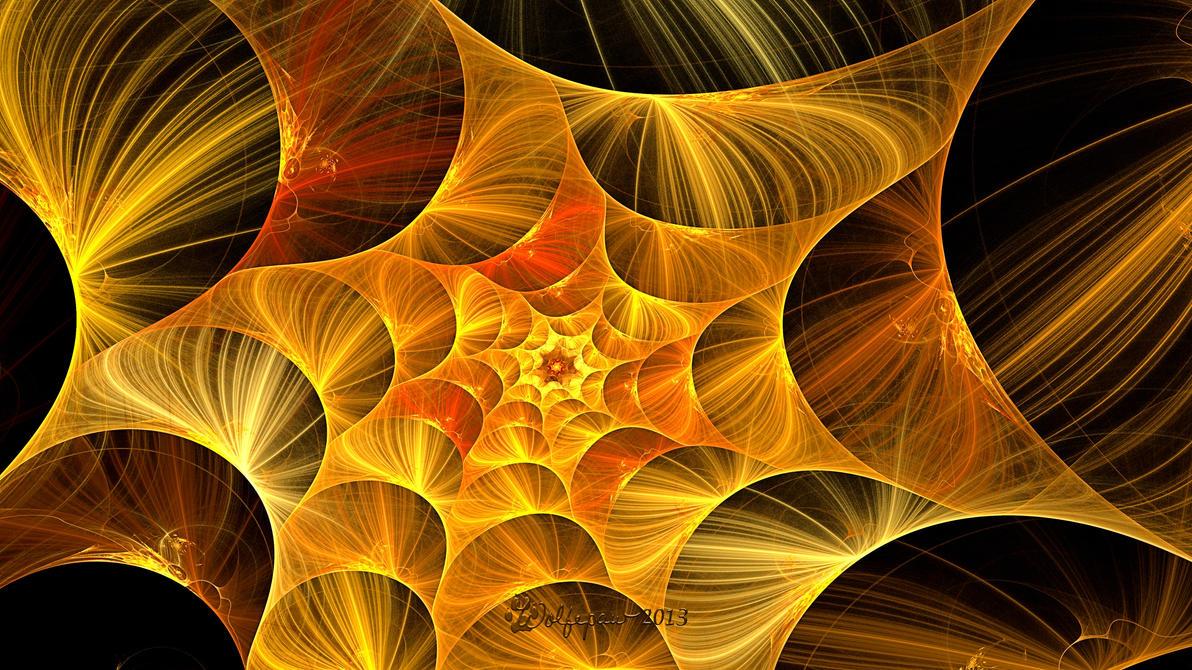 Golden String Spiral by wolfepaw