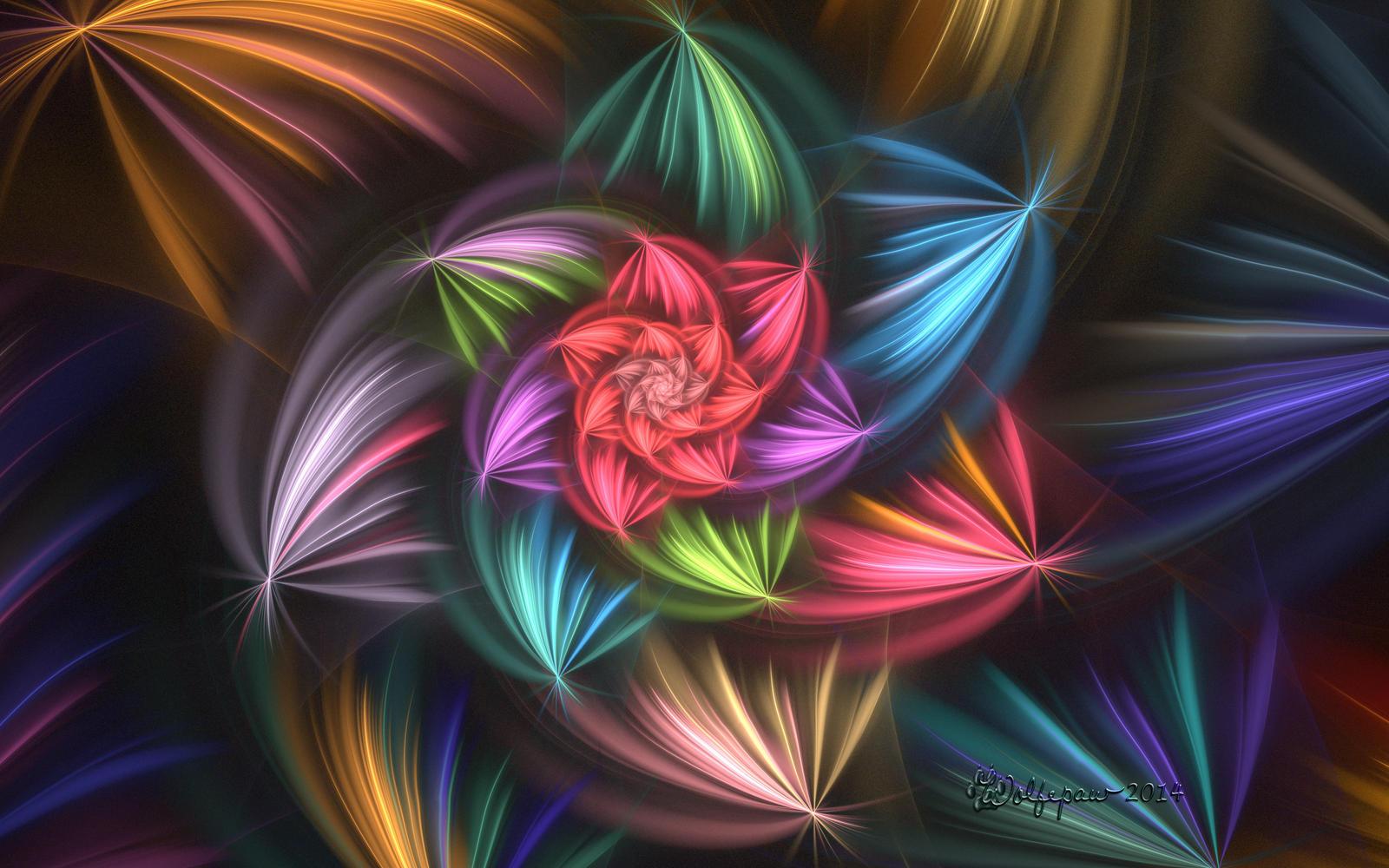 Flower Blur Spiral by wolfepaw