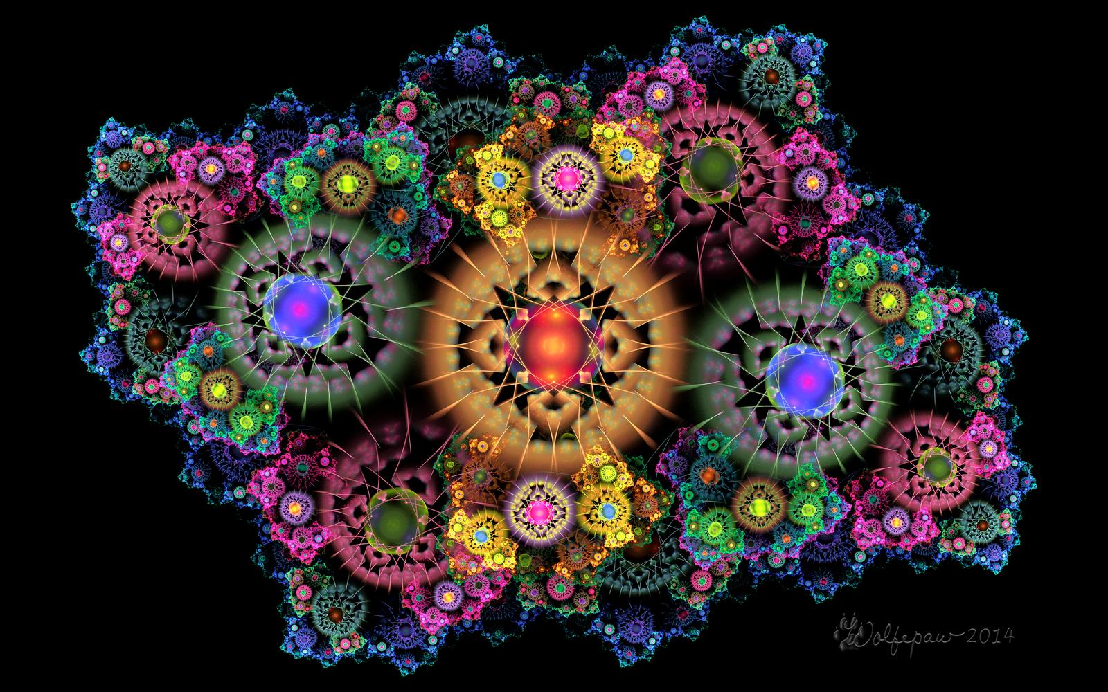 cosmic fractal flowers by wolfepaw on deviantart