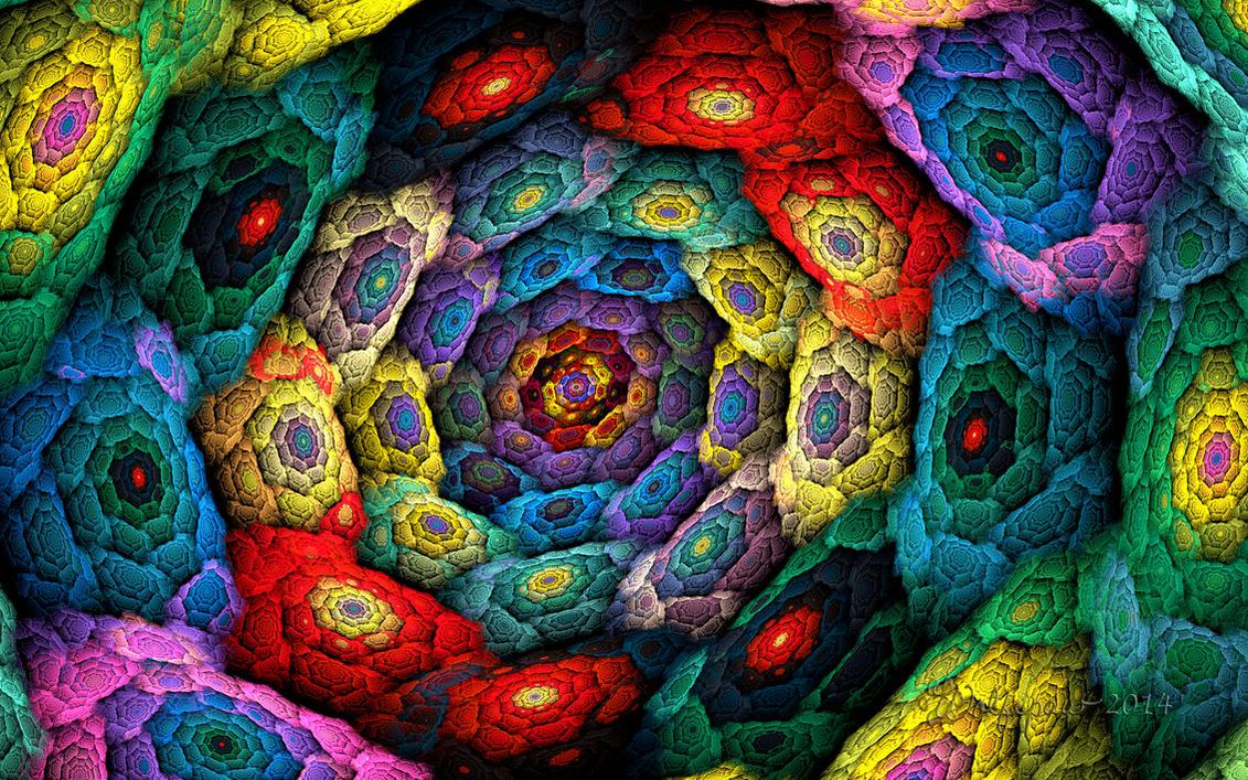 Cellular Spiral by wolfepaw