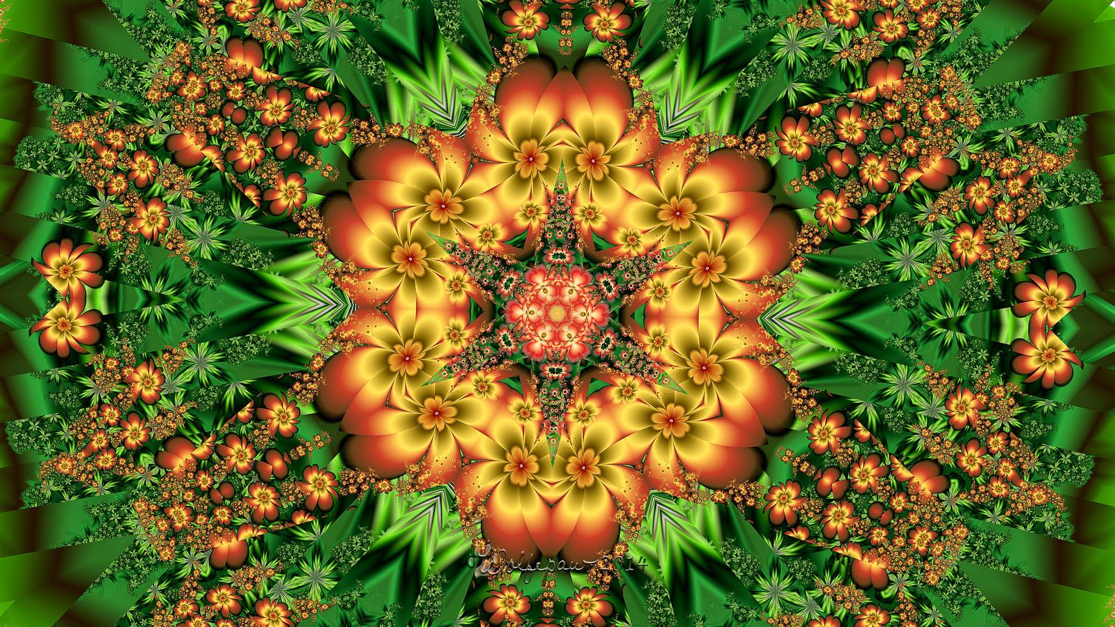 Floral Kaleidoscope by wolfepaw