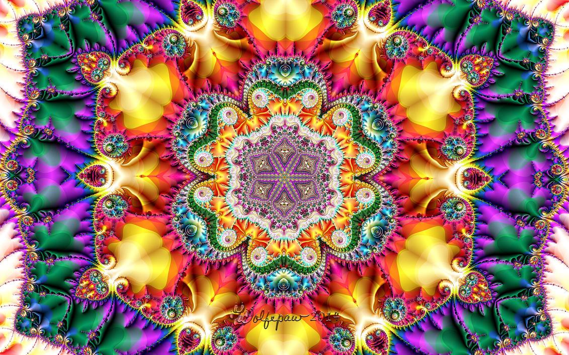 Rainbow Kaleidoscope by wolfepaw