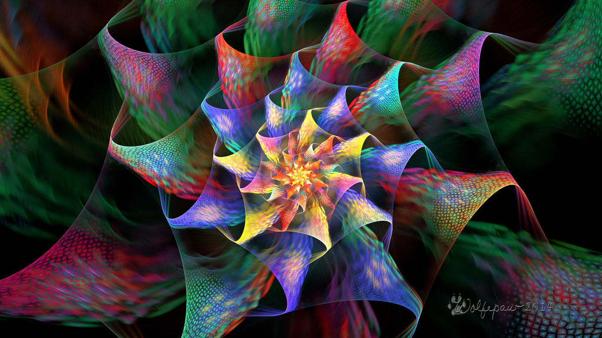 Crackle Flower by wolfepaw