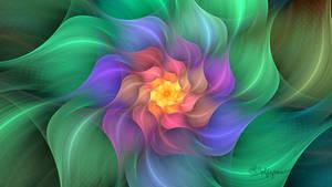 Pastel Crackle Flower + Params