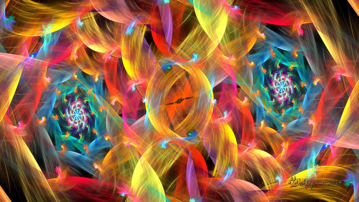 Linked Spirals by wolfepaw