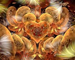 Golden Galaxies Heart