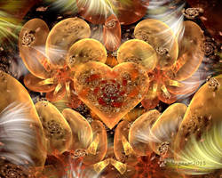 Golden Galaxies Heart by wolfepaw