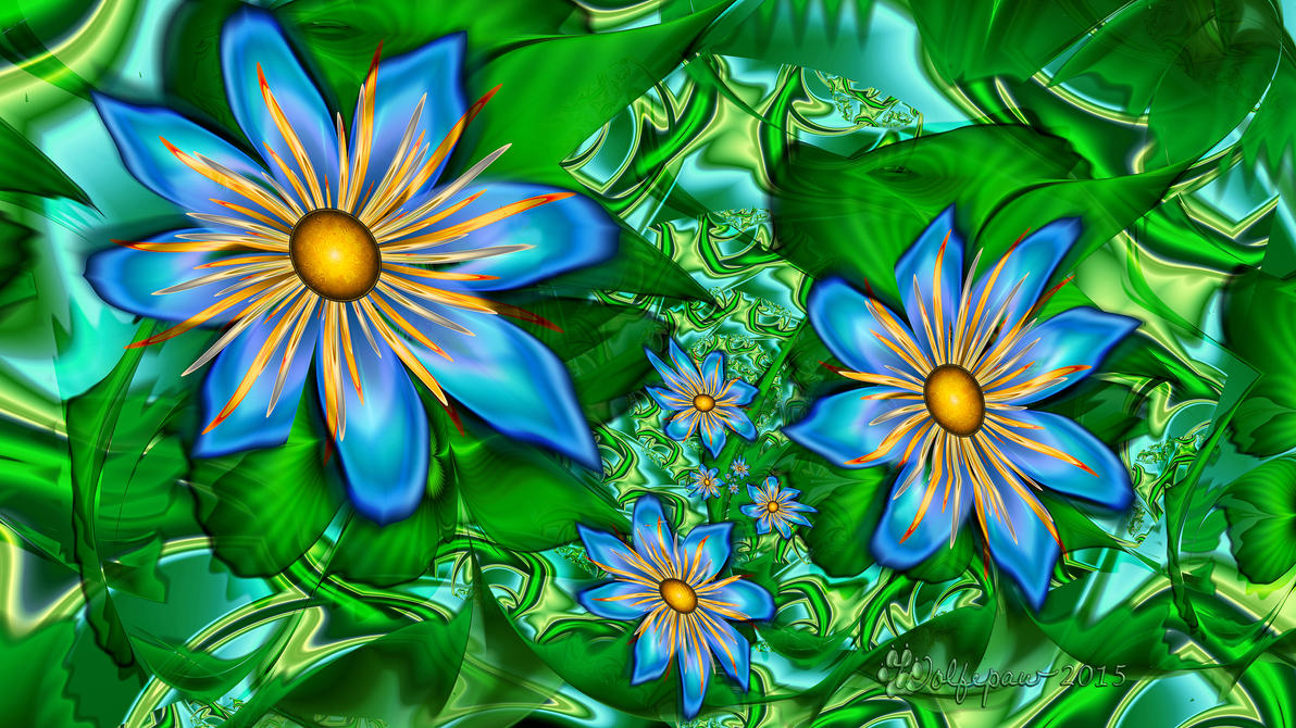 Blue flowers on the vine by wolfepaw on deviantart blue flowers on the vine by wolfepaw izmirmasajfo Images