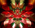 Christmas Ribbon Flower
