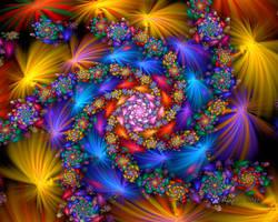 Rainbow Elliptic Spiral by wolfepaw