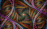 Mardi Gras Beads Spiral