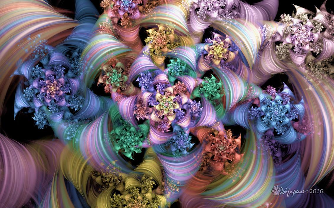 Bright Taffy Spiral by wolfepaw
