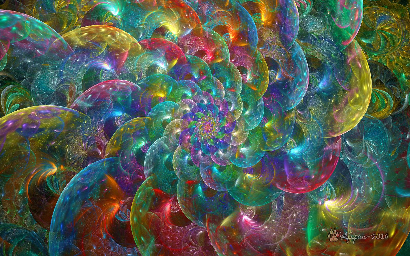 rainbow glass loops spiral by wolfepaw on deviantart