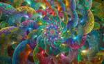 Rainbow Glass Loops Spiral