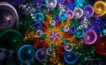 Rainbow Rosoni Bubble Spiral