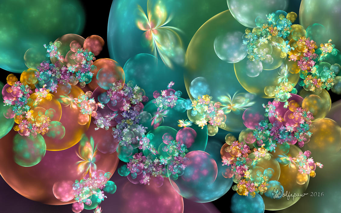 butterflies  bubbles  and flowers by wolfepaw on deviantart