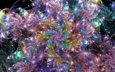 Electric Galaxy Spiral by wolfepaw