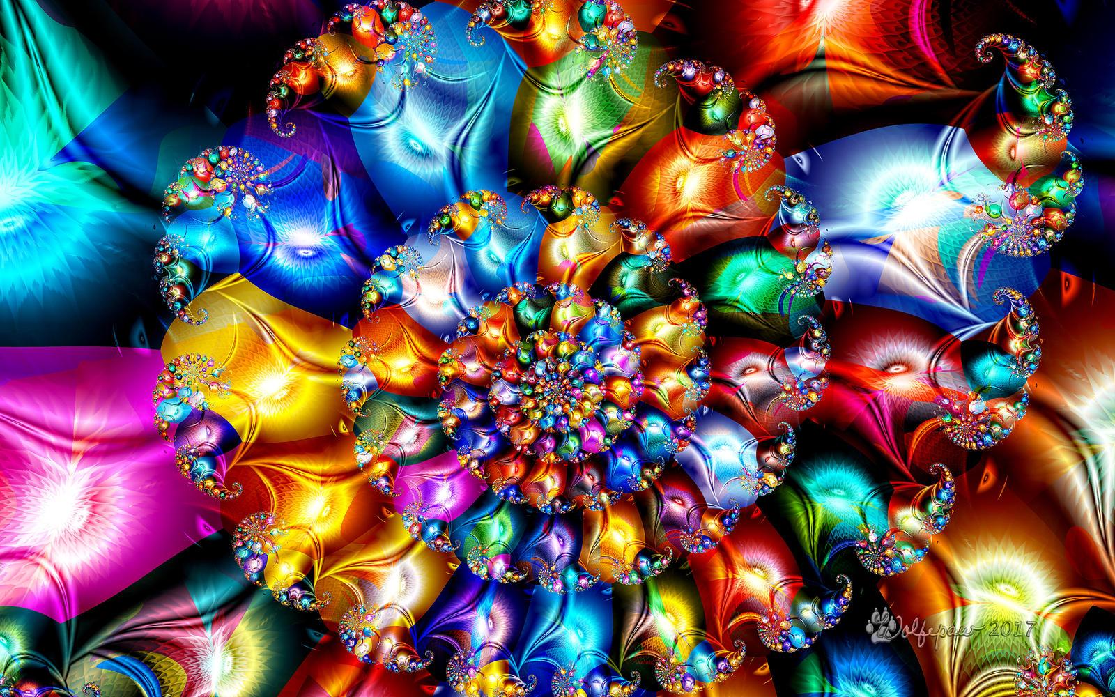 Shiny Jewel Spiral by wolfepaw