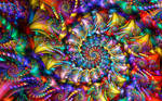 Rainbow Spiral Brocade
