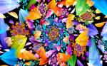 Cloverleaf Butterfly Flower Spiral