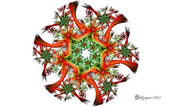 Double Devil Christmas Wreath