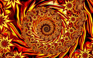 UF Chain Pong 969 - Fiery Autumn Spiral by wolfepaw