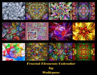 Fractal Elements Calendar 2019 by wolfepaw