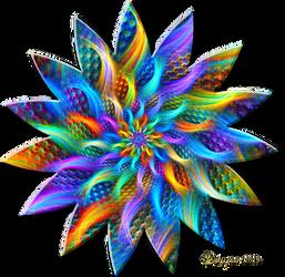 Linear3D Rainbow Burst by wolfepaw
