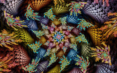 Linear3D on Steroids Woven Spiral by wolfepaw