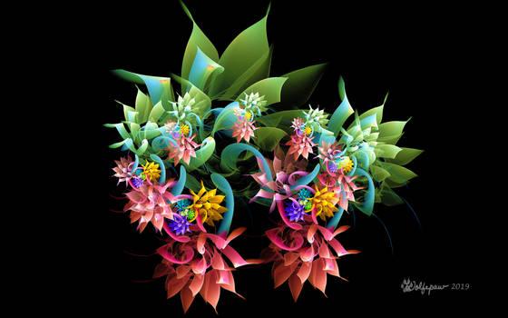 Triangle Flowers by wolfepaw