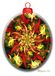 Auger Christmas Flower Ornament by wolfepaw