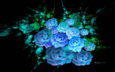 Bloomin Blue Rose Bouquet