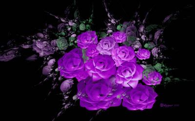 Bloomin Purple Rose Bouquet
