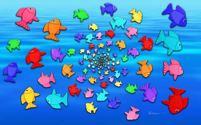 Fractal Art School of Fishies