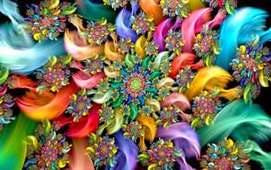 Color Flower Wheel