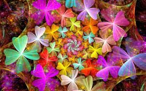 Rainbow Clover Spiral
