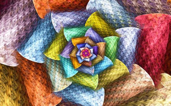 Rainbow Wicker Flower