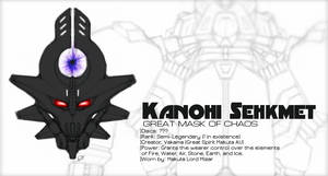 Kanohi Sehkmet, Mask of Chaos by Llortor