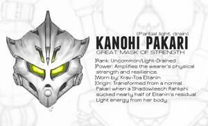 Kanohi Pakari, Mask of Strength (Light-Drained) by Llortor
