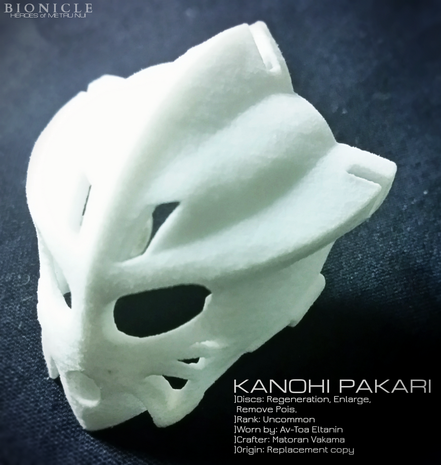 Eltanin's Kanohi Pakari (3D Print) by Llortor