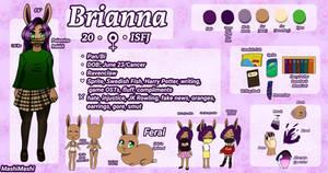 Brianna (Furry OC) Reference Sheet  by MashiMashix