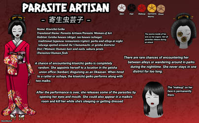 Parasite Artisan (Creepypasta OC) Reference Sheet by MashiMashix