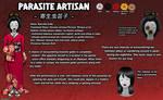 Parasite Artisan (Creepypasta OC) Reference Sheet