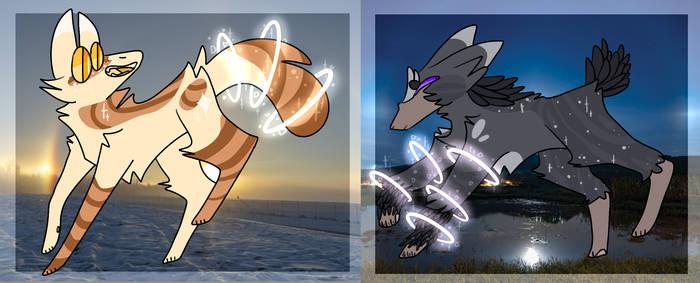Sundog and Moondog adopts {1/2 open}