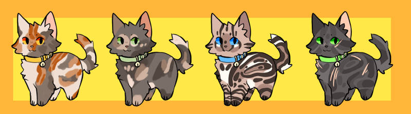 adopts {3/4 open}