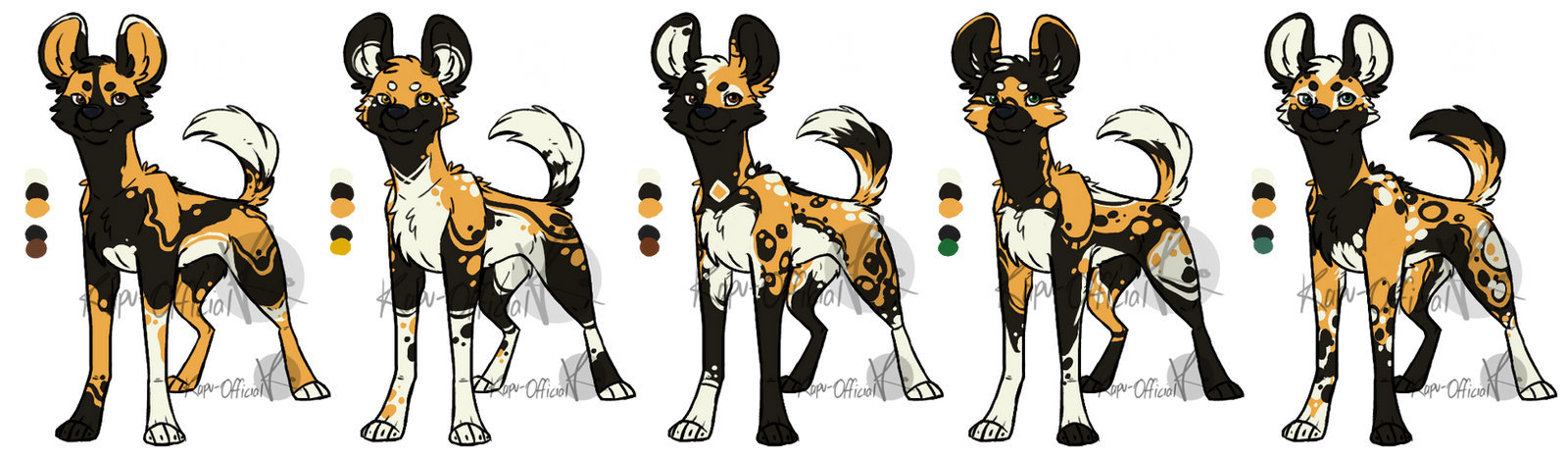 Adoptables Wild Dogs Batch Sold Out By Keavemind On Deviantart